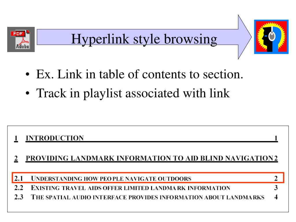 Hyperlink style browsing