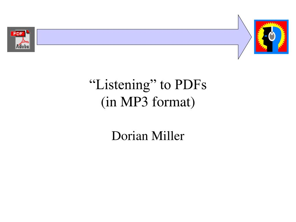 listening to pdfs in mp3 format l.