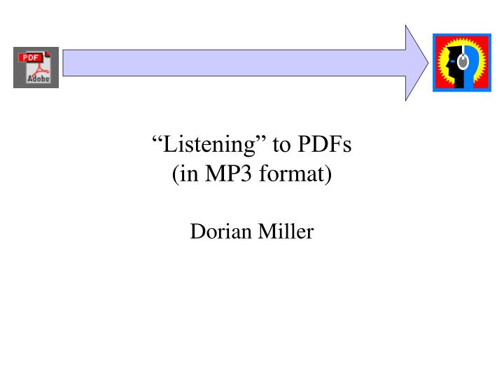 Listening to pdfs in mp3 format
