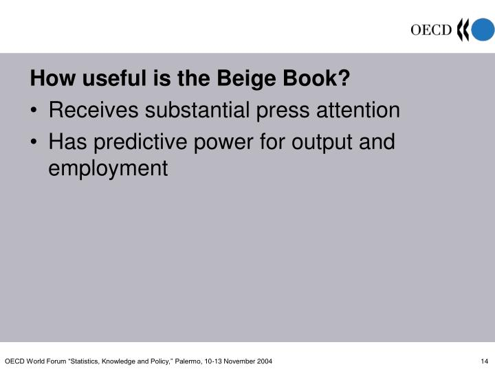 How useful is the Beige Book?