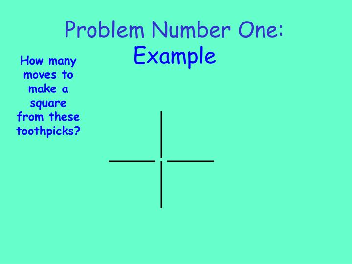 Problem number one example