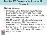 mobile tv development issue iii content22