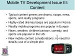 mobile tv development issue iii content23