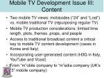 mobile tv development issue iii content27