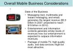 overall mobile business considerations