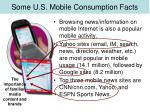 some u s mobile consumption facts