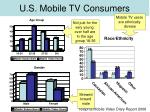u s mobile tv consumers