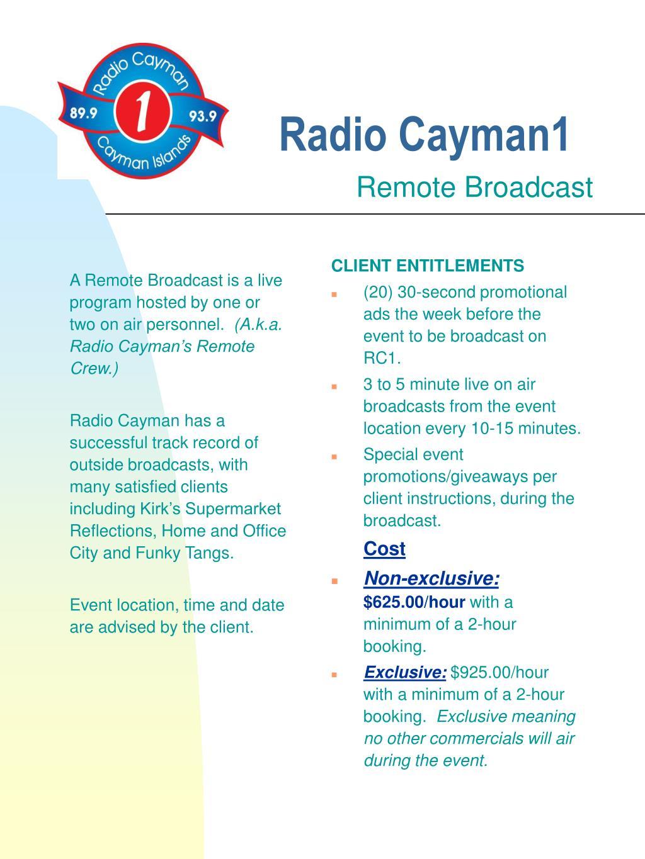 radio cayman1 l.