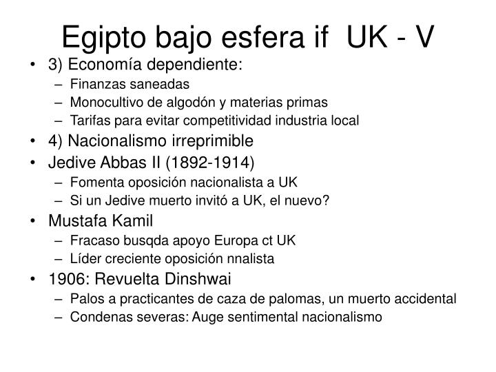 Egipto bajo esfera if  UK - V