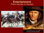 entertainment paint horses in movies