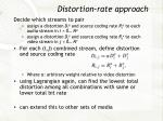 distortion rate approach