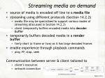 streaming media on demand