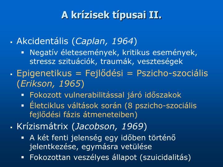 A krízisek típusai II.