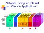 network coding for internet and wireless applications