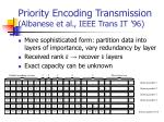 priority encoding transmission albanese et al ieee trans it 96