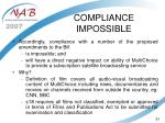 compliance impossible