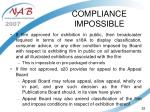 compliance impossible52