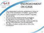 encroachment on icasa