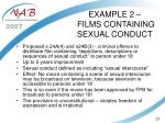 example 2 films containing sexual conduct