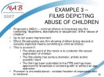 example 3 films depicting abuse of children
