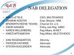 nab delegation