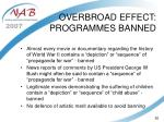 overbroad effect programmes banned