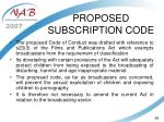 proposed subscription code48