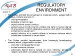 regulatory environment10