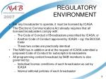 regulatory environment9