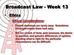 broadcast law week 1310