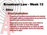 broadcast law week 1311