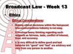 broadcast law week 132