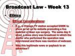 broadcast law week 134