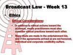 broadcast law week 135