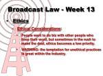 broadcast law week 136
