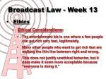 broadcast law week 137