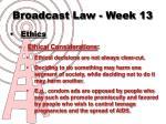 broadcast law week 138