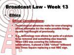broadcast law week 139
