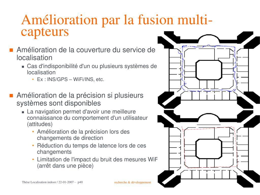 Amélioration par la fusion multi-capteurs