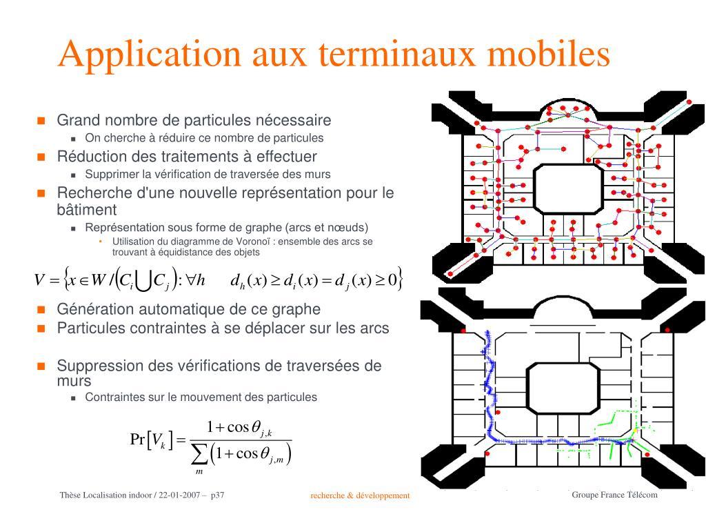 Application aux terminaux mobiles