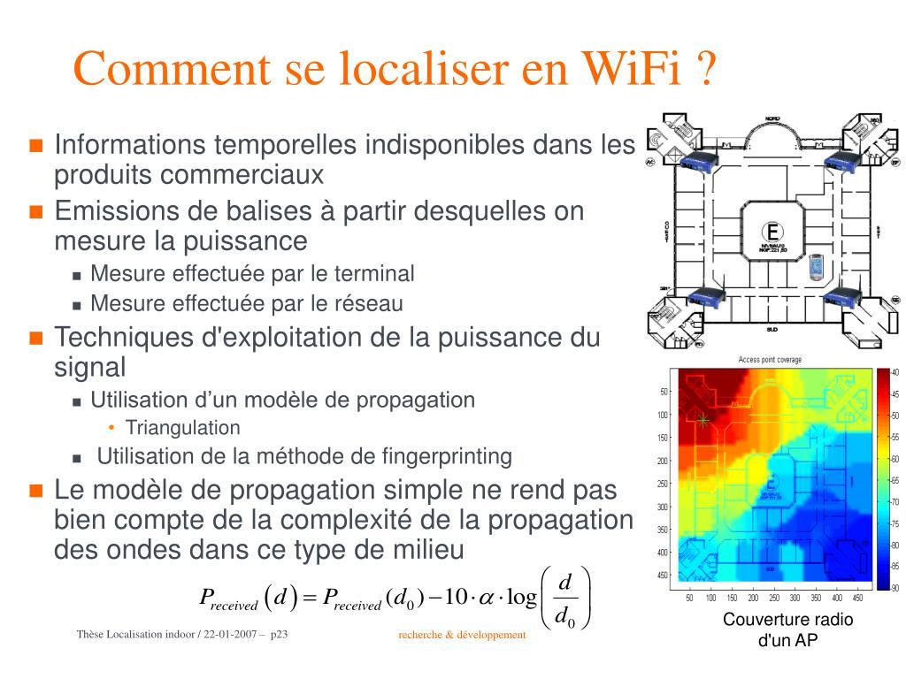 Comment se localiser en WiFi ?