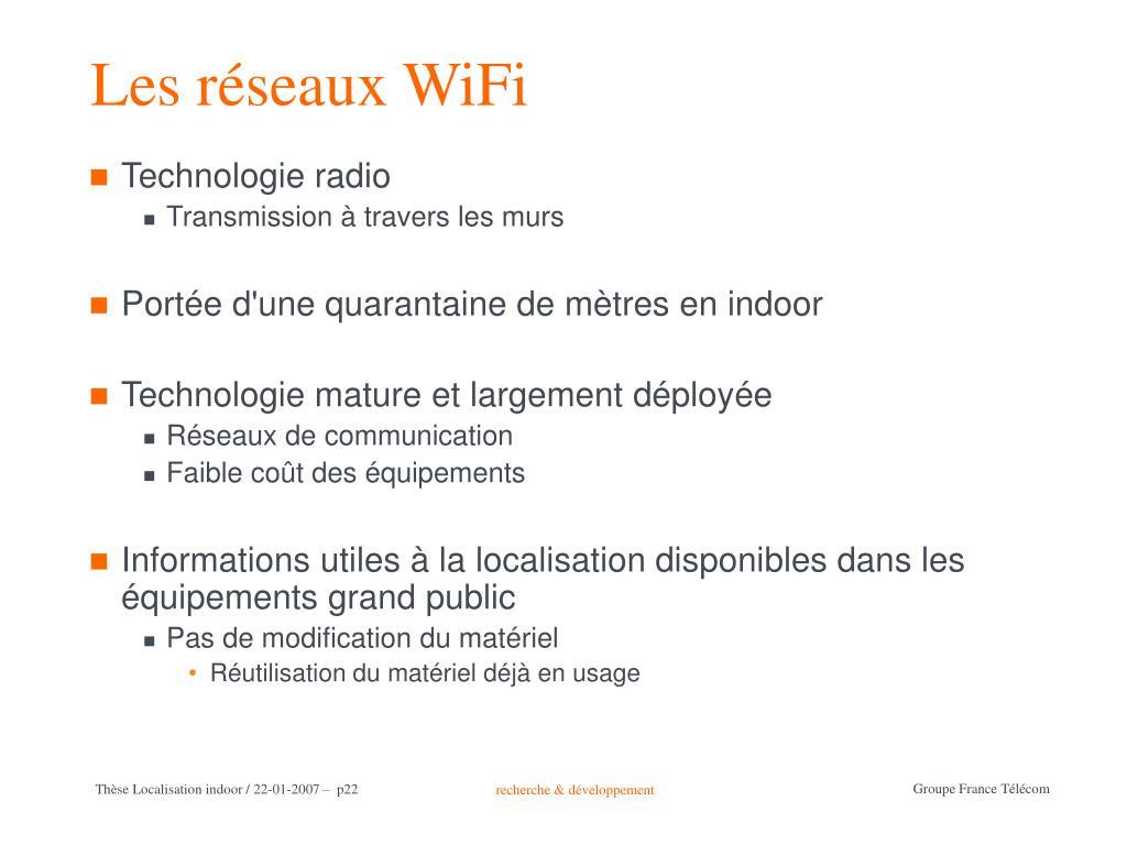 Les réseaux WiFi