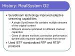 history realsystem g2