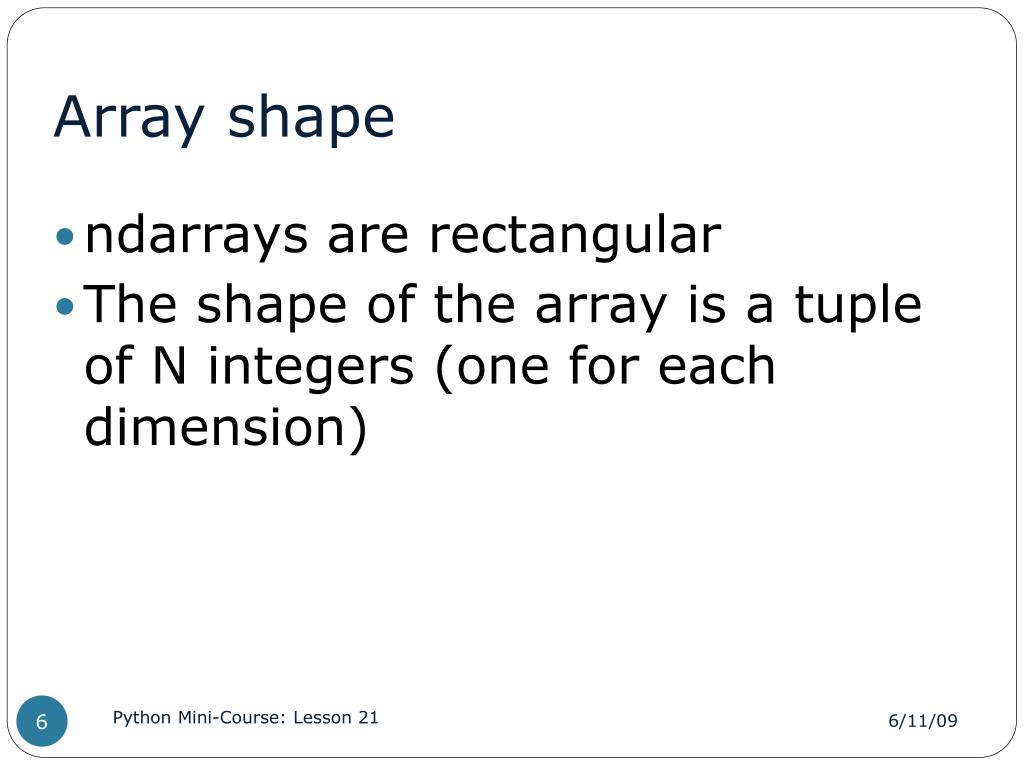 PPT - Lesson 21 NumPy PowerPoint Presentation - ID:486876