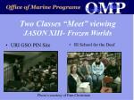 two classes meet viewing jason xiii frozen worlds