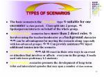 types of scenarios