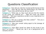 questions classification