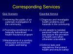 corresponding services