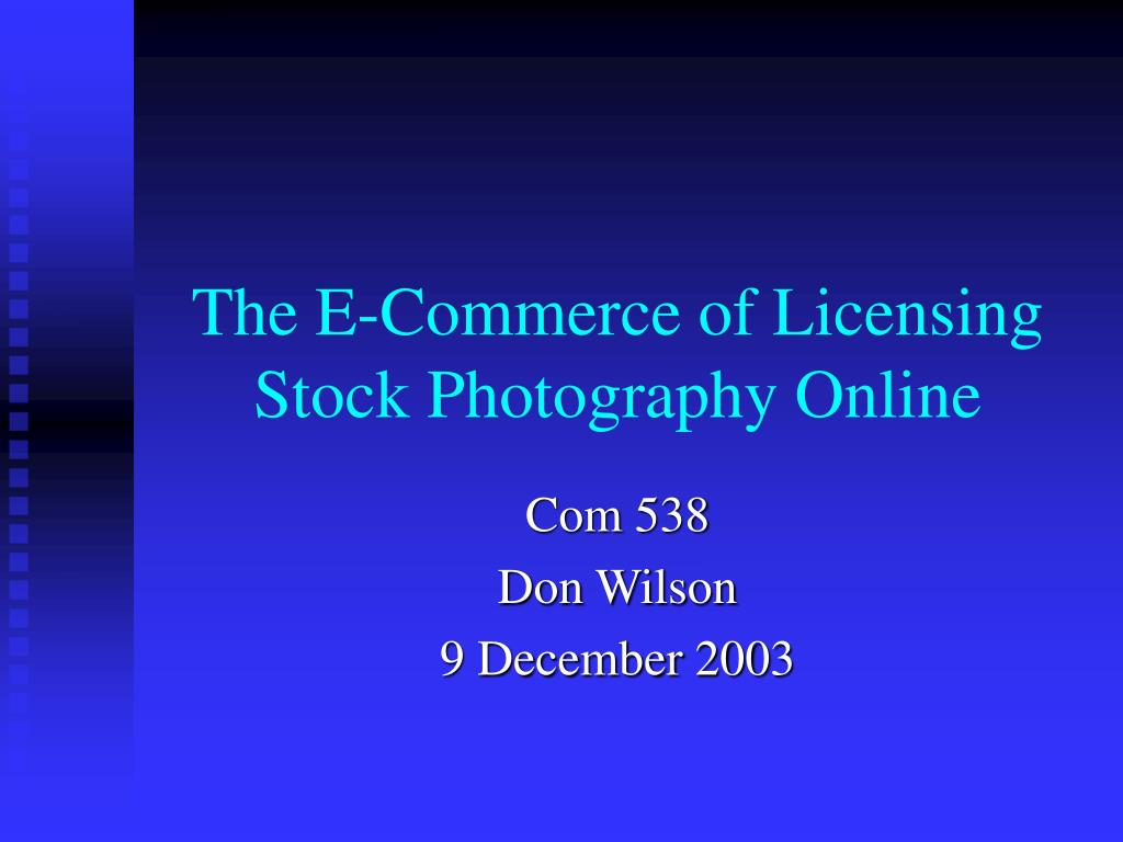the e commerce of licensing stock photography online l.
