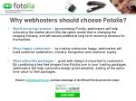 why webhosters should choose fotolia
